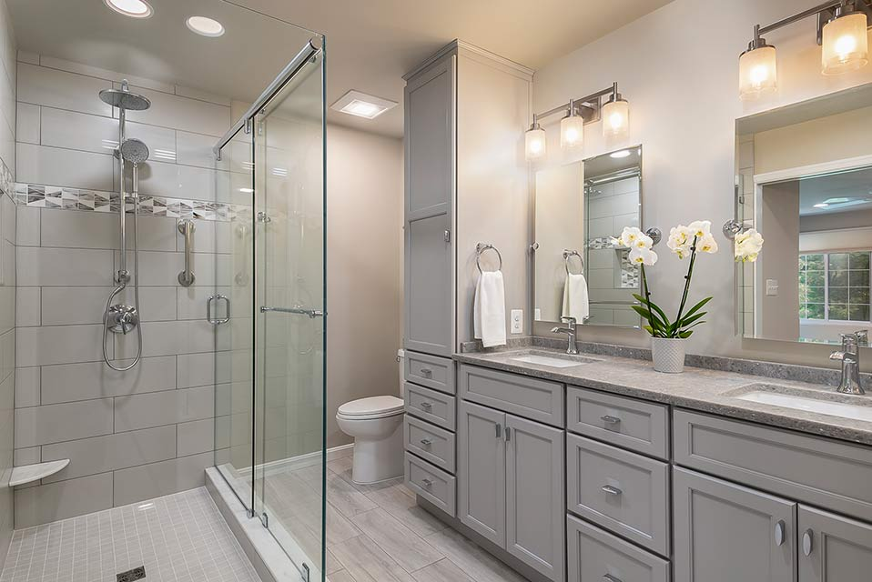 renovated large master bathroom